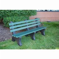 Central Park Recycled Plastic Park Bench 8 Feet FF-PB8-CP