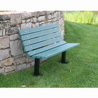 Contour Recycled Plastic Park Bench 4 Feet FF-PB4-BFCON