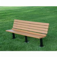 Contour Recycled Plastic Park Bench 6 Feet FF-PB6-BFCON