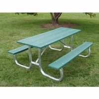 Galvanized Frame Picnic Bench and Table 6 Feet FF-PB6-GFPIC