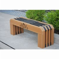 Gateway Recycled Plastic Park Bench 4 Feet FF-PB4-GAT