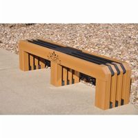 Gateway Recycled Plastic Park Bench 6 Feet FF-PB6-GAT