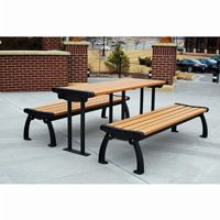 Heritage Backless Resinwood Park Bench 5 Feet FF-PB5-HERBACK