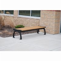 Heritage Backless Resinwood Park Bench 8 Feet FF-PB8-HERBACK