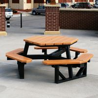 Hex Resinwood Picnic Bench and Table 6 Feet FF-PB6-HEX