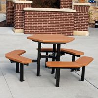 Hybrid Hex Resinwood Picnic Bench and Table 6 Feet FF-PB6-HYBHEX