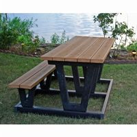Lenexa Recycled Plastic Picnic Bench and Table 6 Feet-ADA FF-PB6-LENADA