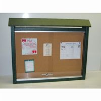 Medium Message Center Resinwood One Side, No Posts 36 × 26 Inch. FF-PBMC2