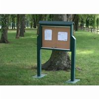 Medium Message Center Resinwood One Side, Two Posts 36 × 26 Inch. FF-PBMC2P