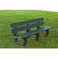 Petrie Recycled Plastic Park Bench 6 Feet FF-PB6-PET
