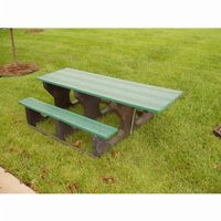 Recycled Plastic Picnic Bench and Table 6 Feet- ADA FF-PB6-PICADA