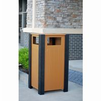 Ridgeview Square Recycled Plastic Receptacle 32 Gal. FF-PB32RID