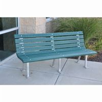 Saint Pete Recycled Plastic Park Bench 6 Feet FF-PB6-STP