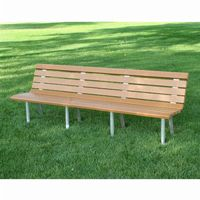 Saint Pete Recycled Plastic Park Bench 8 Feet FF-PB8-STP