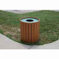 Standard Round Outdoor Trash Receptacle 32 Gal. FF-PB32R