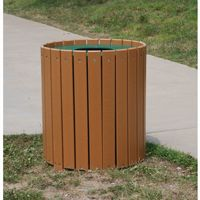 Standard Round Outdoor Trash Receptacle 55 Gal. FF-PB55R