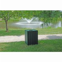 Standard Square Recycled Plastic Trash Receptacle 32 Gal. FF-PB32S