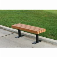 Trailside Recycled Plastic Park Bench 4 Feet FF-PB4-TRA