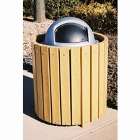 Outdoor trash receptacles, trash cans