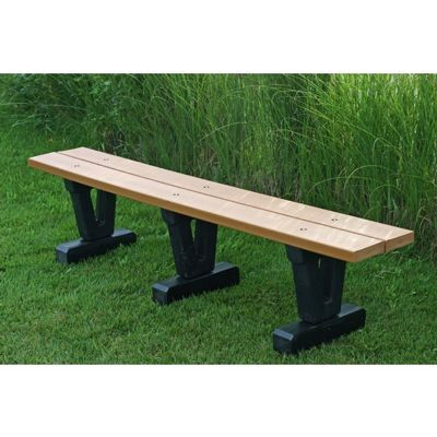 Basic Recycled Plastic Park Bench 6 Feet FF-PB6-BAS