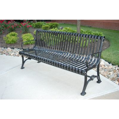 Blair Steel Strap Park Bench 6 Feet FF-PB6-BLAIR