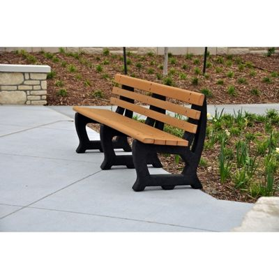 Brooklyn Recycled Plastic Park Bench 6 Feet FF-PB6-BROOK