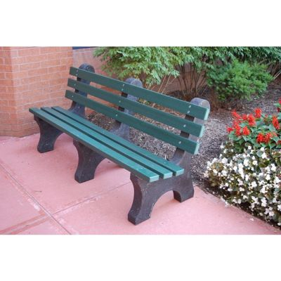 Central Park Recycled Plastic Park Bench 6 Feet FF-PB6-CP