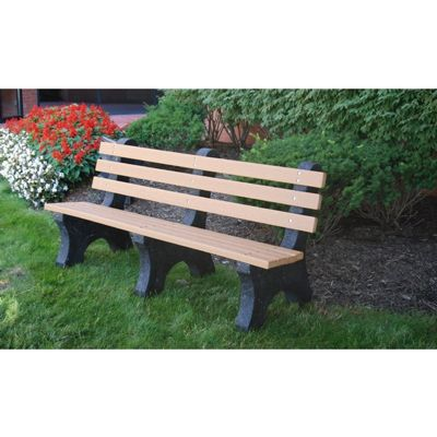Comfort Park Avenue Recycled Plastic Park Bench 6 Feet FF-PB6-CPA