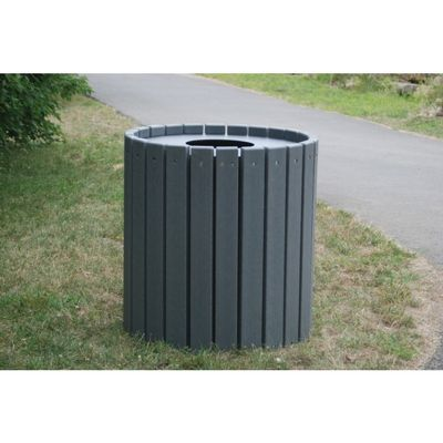 Heavy Duty Round Resinwood Trash Receptacle 55 Gal. FF-PB55R-HD