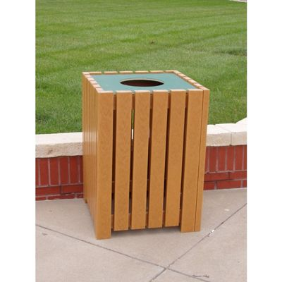 Heavy Duty Square Trash Receptacle 32 Gal. FF-PB32S-HD