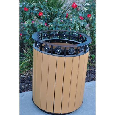 Jamestown Round Resinwood Receptacle 20 Gal. FF-PB20JAM