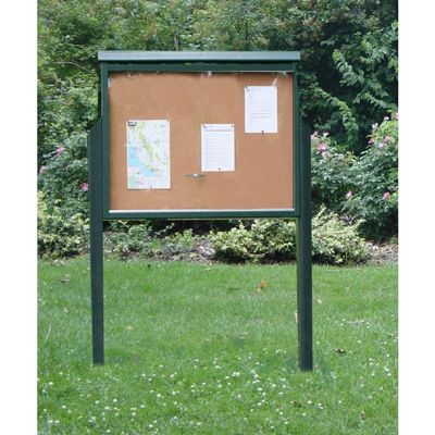 Large Message Center Resinwood One Side, Two Posts 51 x 36 Inch. FF-PBMC3P