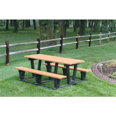 Lenexa Recycled Plastic Picnic Bench and Table 6 Feet FF-PB6-LEN