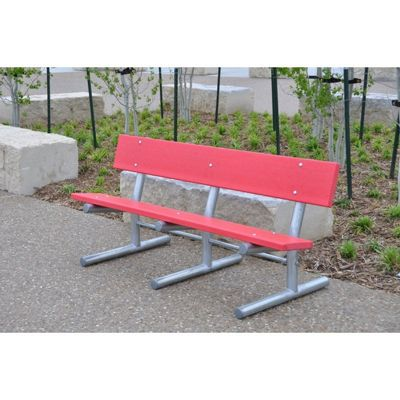 Madison Recycled Plastic Park Bench 6 Feet FF-PB6-MADSUR