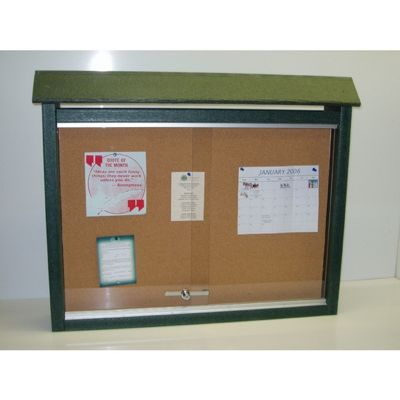 Medium Message Center Resinwood Two Sides, No Post 36 x 26 Inch. FF-PBMC2D