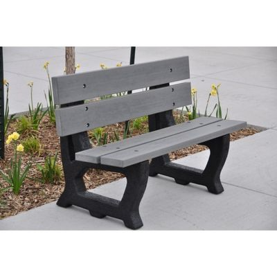 Petrie Recycled Plastic Park Bench 4 Feet FF-PB4-PET