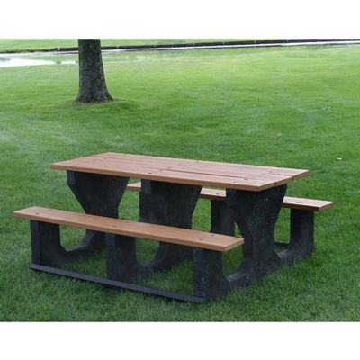 Recycled Plastic Picnic Bench and Table 6 Feet FF-PB6-PIC