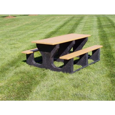 Recycled Plastic Picnic Bench and Table 8 Feet FF-PB8-PIC