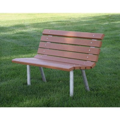 Saint Pete Recycled Plastic Park Bench 4 Feet FF-PB4-STP