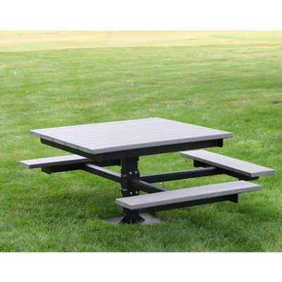 T-Table Resinwood Picnic Bench and Table 4 Feet-ADA FF-PB4-BFSPICAD