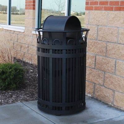 Victoria Structural Steel Trash Receptacle 32 Gal. FF-PB32VIC