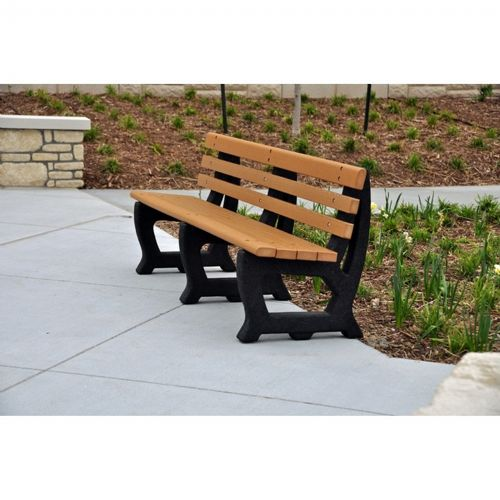 Brooklyn Recycled Plastic Park Bench 4 Feet FF-PB4-BROOK