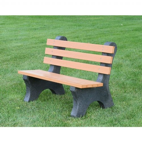 Central Park Recycled Plastic Park Bench 4 Feet Ff Pb4 Cp Cozydays