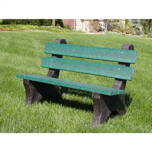 Colonial Recycled Plastic Park Bench 4 Feet Ff Pb4 Col Cozydays