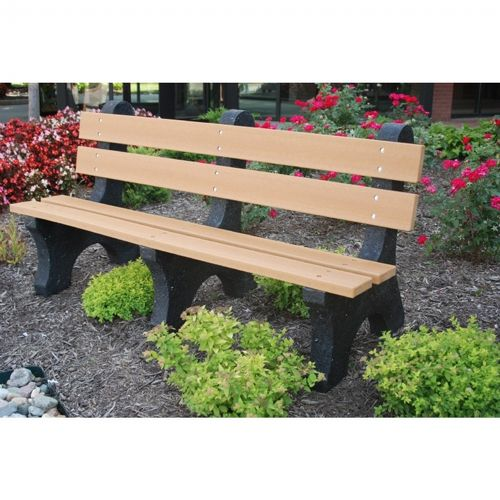 Colonial Recycled Plastic Park Bench 6 Feet FF-PB6-COL