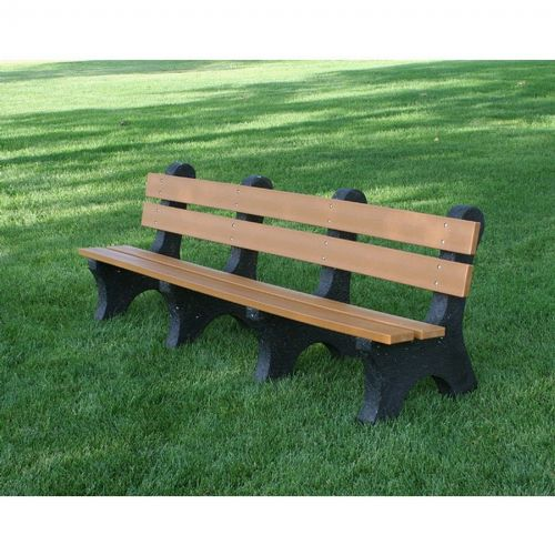 Colonial Recycled Plastic Park Bench 8 Feet Ff Pb8 Col Cozydays