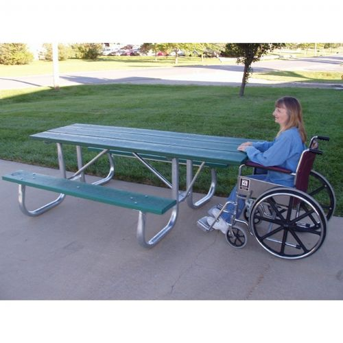 Galvanized Frame Picnic Bench and Table 6 Feet-ADA FF-PB6-GFPICADA