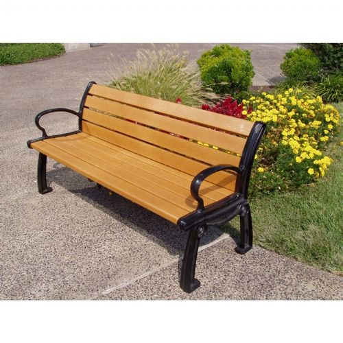 Heritage Resinwood Park Bench 8 Feet FF-PB8-HER