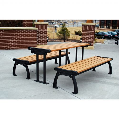 Heritage Resinwood Picnic Bench and Table 6 Feet FF-PB6-BFHERPIC