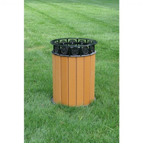 Jamestown Round Resinwood Receptacle 12 Gal. FF-PB12JAM